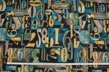Úplet modrohnědý, číslice š.150