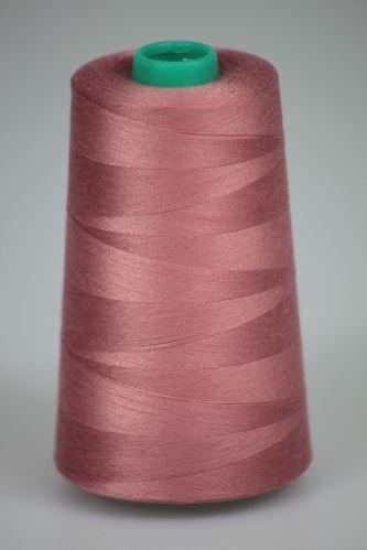Niť KORALLI polyesterová 120, 5000Y, odtieň 3250, ružová