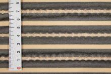 Úplet béžový, černý pruh, š.160