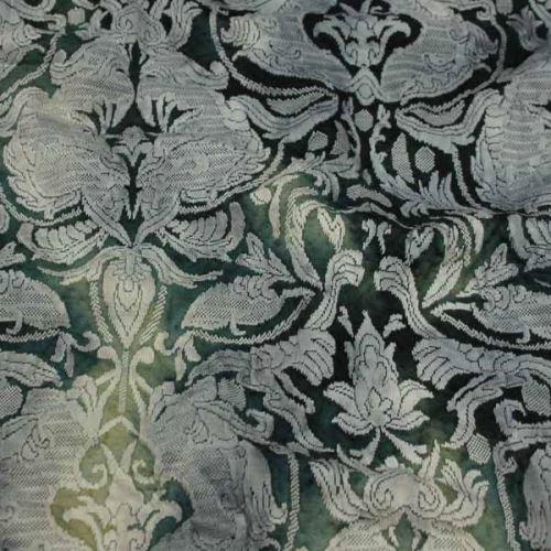 Úplet zelený, žakárový vzor š.135