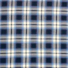 Košilovina N4868, modro-bílé káro, š.150