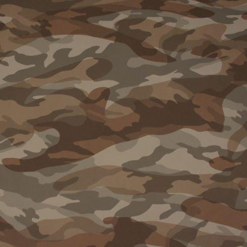 Koženka army, hnědá kamufláž, š.140