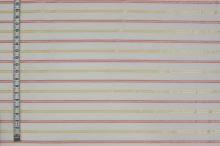 Košeľovina biela, žltoružový pruh, š.155