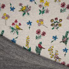 Warmkeeper šedý, květinový vzor, š.145