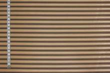 Košeľovina béžová, hnedý pruh, š.150