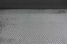 Šifon černý, šedý sametový vzor, š.140