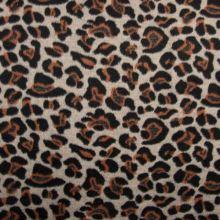 Kabátovina rezavo-černý zvířecí vzor, š.150