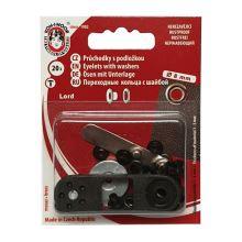 Priechodky s podložkou Ms, 8mm (v.4), čierny nikel, 20ks