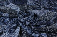 Šatovka modrotlač, zvierací vzor, š.140
