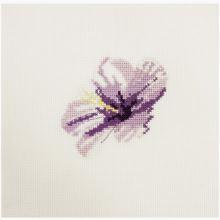 Vyšívacia sada DMC malá, fialový kvet
