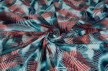 Úplet N3570, modro-červený vzor, š.145