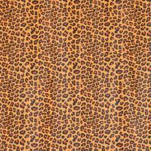 Koženka žltá, oranžovo-čierny zvierací vzor, š.140