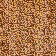 Koženka žlutá, oranžovo-černý zvířecí vzor, š.140