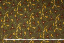 Šatovka khaki, žlutohnědý vzor, š.145