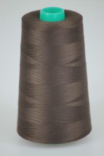 Niť KORALLI polyesterová 120, 5000Y, odtieň 8750, hnedá