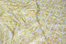Úplet bílý, béžové a žluté květy, š.140