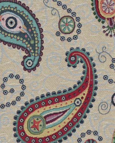 Dekoračná látka NATALI, farebný kašmírový vzor, š.280