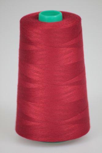 Nit KORALLI polyesterová 120, 5000Y, odstín 2580, červená-vínová