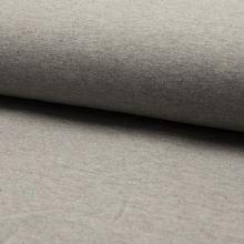 Teplákovina počesaná šedá melanž, barevné tečky, š.160