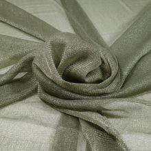 Tyl khaki, stříbrný třpyt, š.150