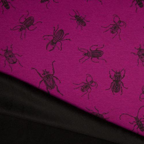 Warmkeeper fialový, čierni chrobáky, š.145