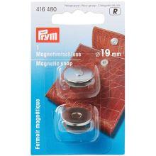 Magnetické zapínání Prym na kabelku, stříbrné, 19 mm