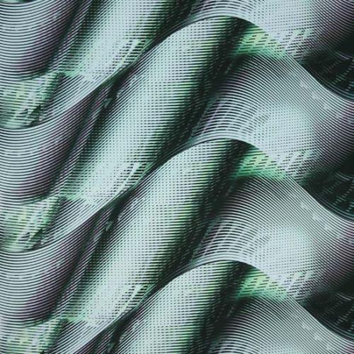 Satén zeleno-šedé vlny, š.145