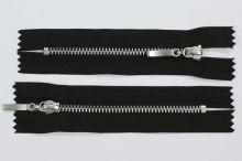 Zips kovový 4mm chróm dĺžka 10cm, farba 332