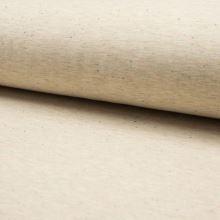 Teplákovina počesaná béžová melanž, barevné tečky, š.155