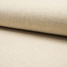Teplákovina počesaná béžová melanž, farebné bodky, š.155