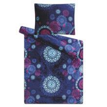 Obliečky mikroflanel SLEEP WELL 70x90/140x200cm - mandaly modré