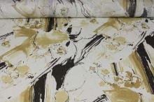 Šatovka bílá, béžovohnědý vzor, š.150