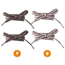 Reflexné šnúrky hrdzavé, dĺžka 120 cm