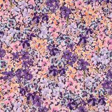 Úplet fialový, barevné fialky, š.150