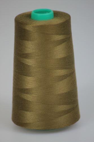 Niť KORALLI polyesterová 120, 5000Y, odtieň 8280, hnedá-zelená