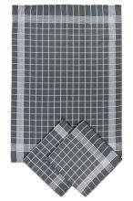 Utěrky bavlněné, negativ šedo-bílá, 50x70cm, 3ks