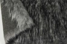 Kožešina šedá 17771, černý melír, š.150
