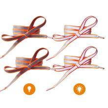 Reflexné šnúrky oranžové, dĺžka 120 cm