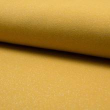Teplákovina počesaná žltá, strieborný lurex, š.150