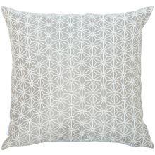 Dekoračný vankúš, svetlý šedo-biely vzor, 45x45 cm