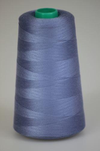 Niť KORALLI polyesterová 120, 5000, odtieň 4630, modrá