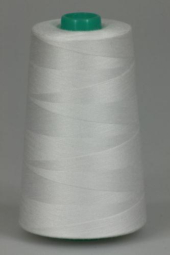 Niť KORALLI polyesterová 120, 5000Y, odtieň 0100, biela