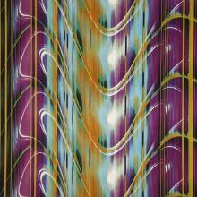 Satén fialovo-modrý, vlny, š.145