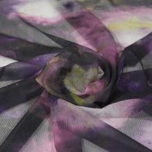 Šifón fialový, galaxie, š.160