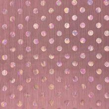 Šifón N5357 staroružový, dúhové bodky, š.150
