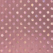 Šifon N5357 starorůžový, duhové puntíky, š.150