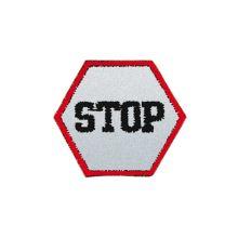 Reflexná nažehlovačka stredná - Stop!