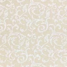 Dekoračná látka režná-zlatá, biely vzor, š.140