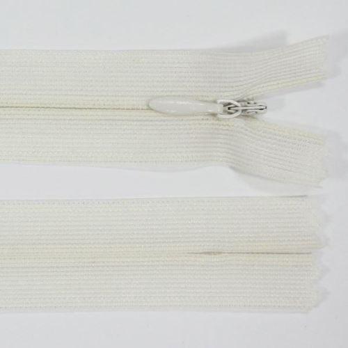 Zip skrytý šatový 3mm délka 45cm, barva 103