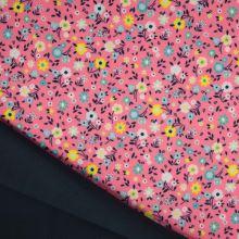 Softshell růžový, drobné květy, š.145